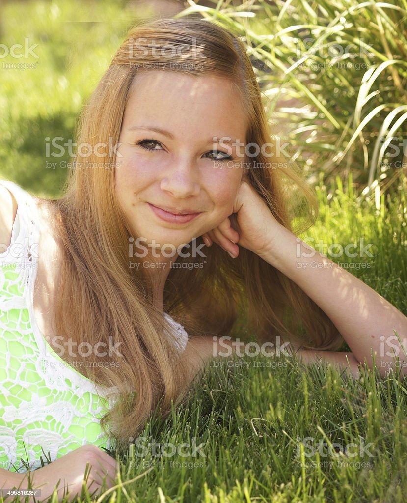 Spunky Teen Girl stock photo