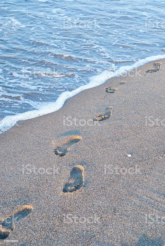Spuren im Sand royalty-free stock photo