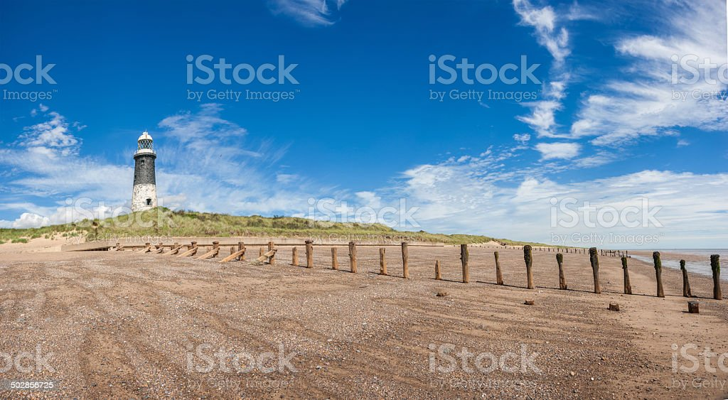 Spurn Point Lighthouse stock photo