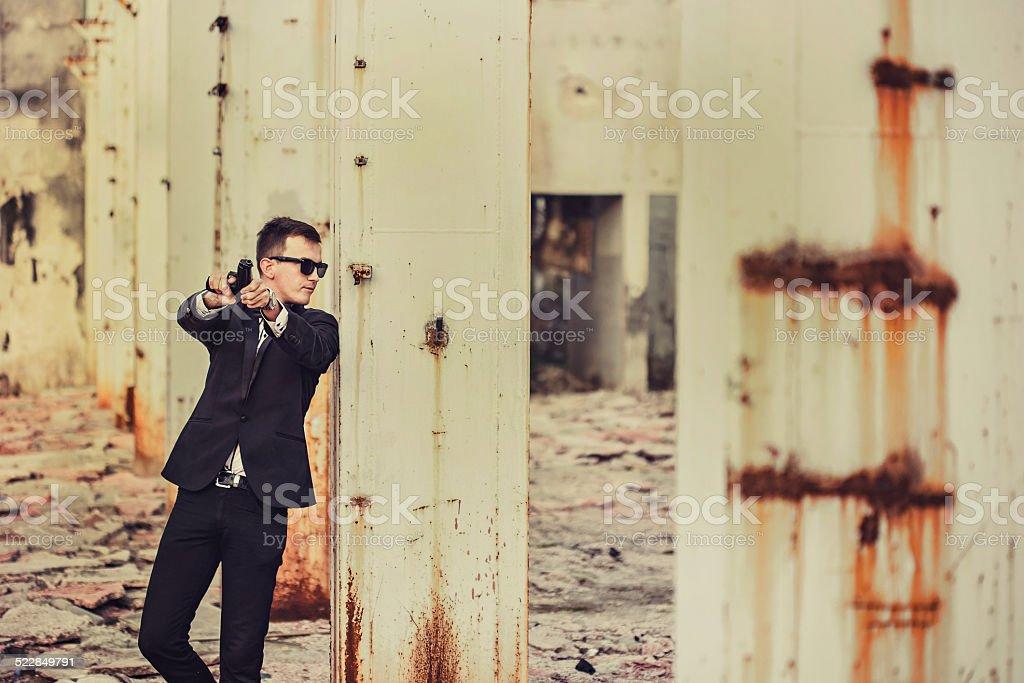 Spy agent stock photo