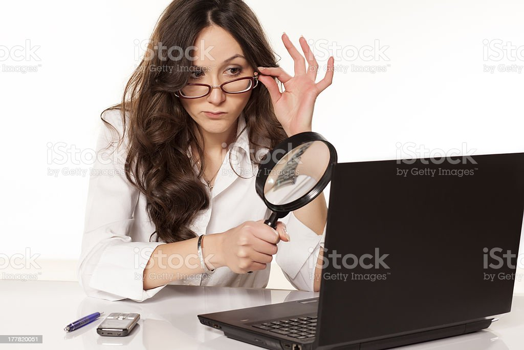 spy at work stock photo