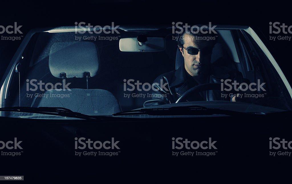 Spy in Car royalty-free stock photo