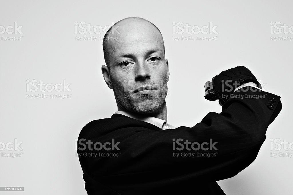 spy ready to hit stock photo