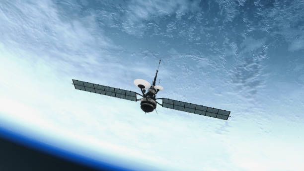 Spy Satellite orbiting Earth. NASA Public Domain Imagery stock photo