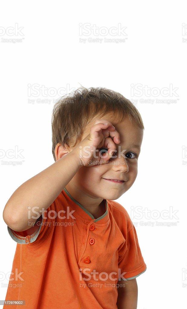 I spy with my little eye... royalty-free stock photo
