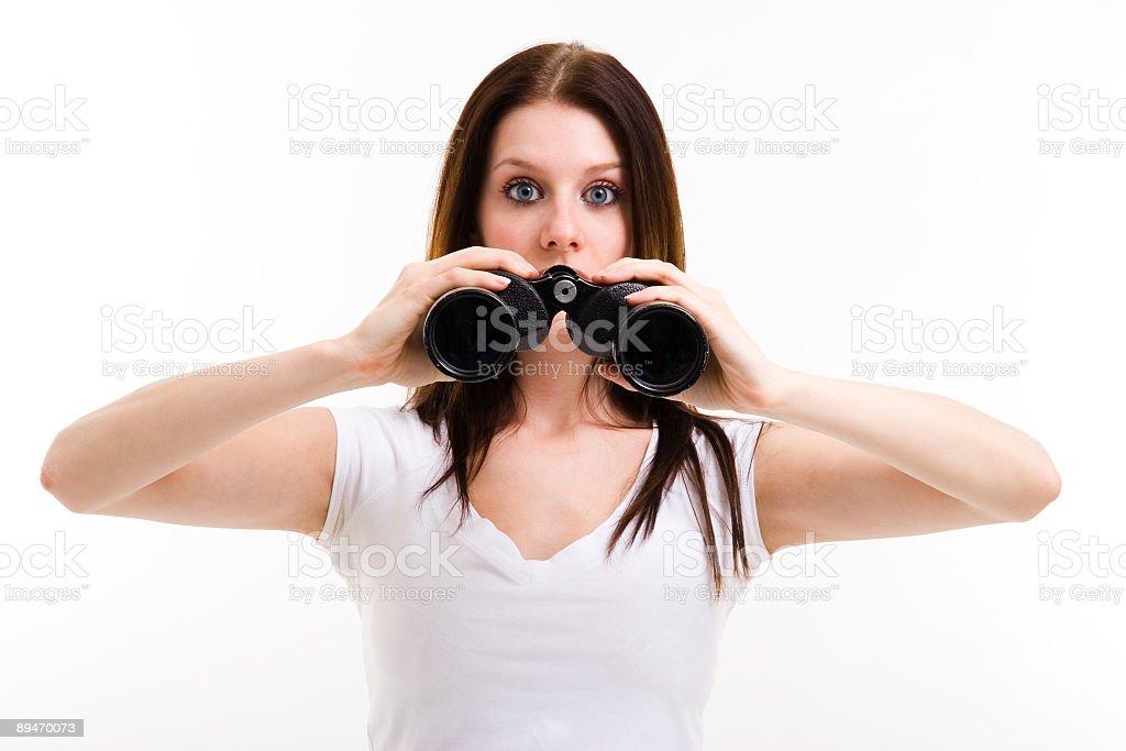 El espionaje belleza foto de stock libre de derechos