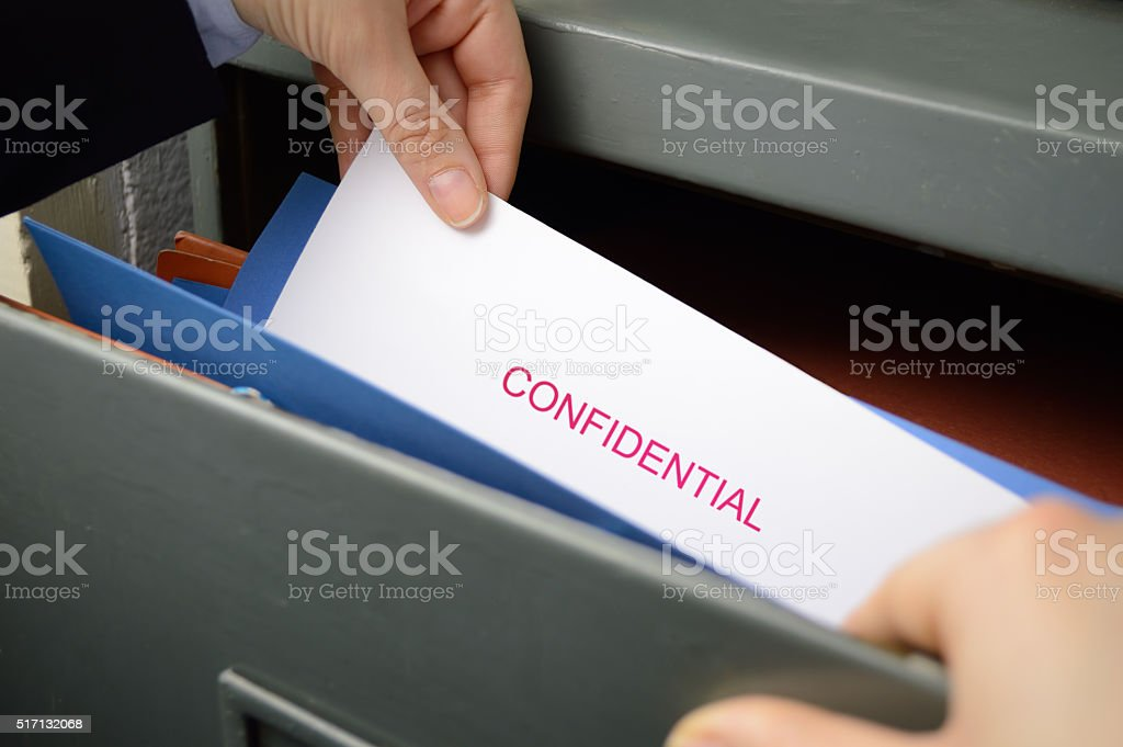 spying documents stock photo