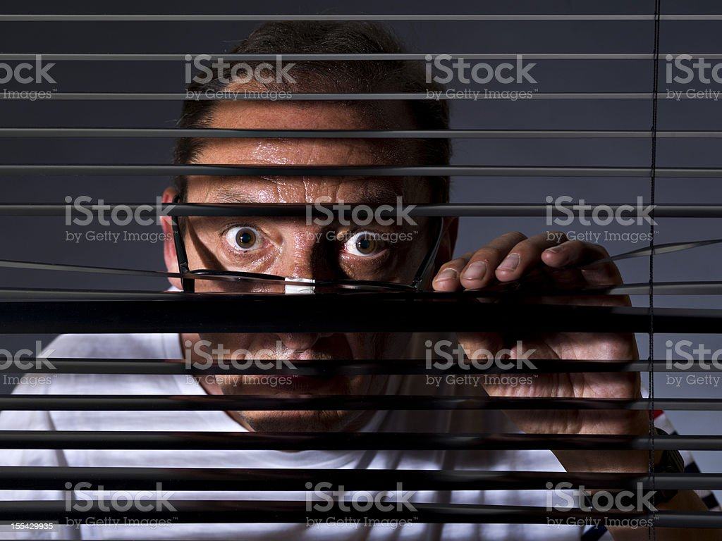 Spying stock photo