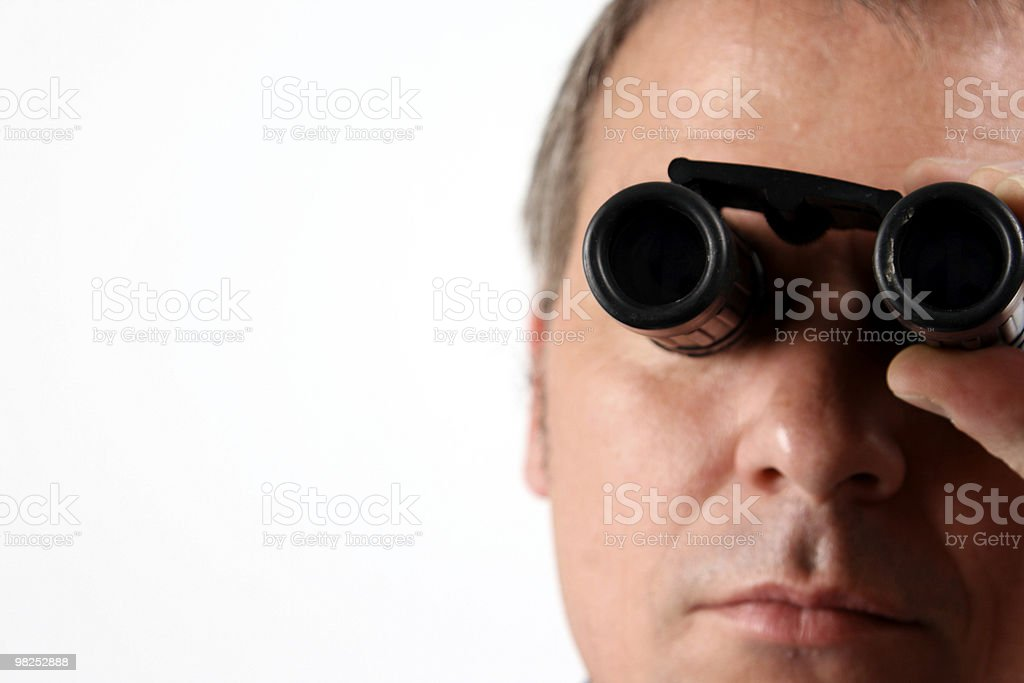 Spying royalty-free stock photo