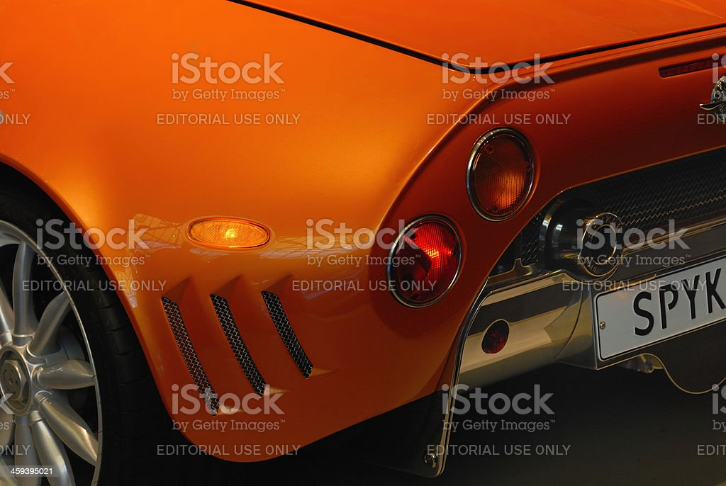 Spyker C8 detail stock photo