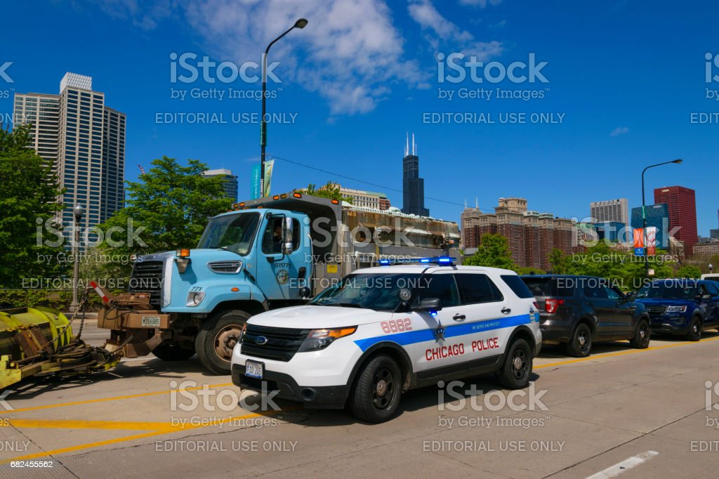 CPD Squad Car stock photo