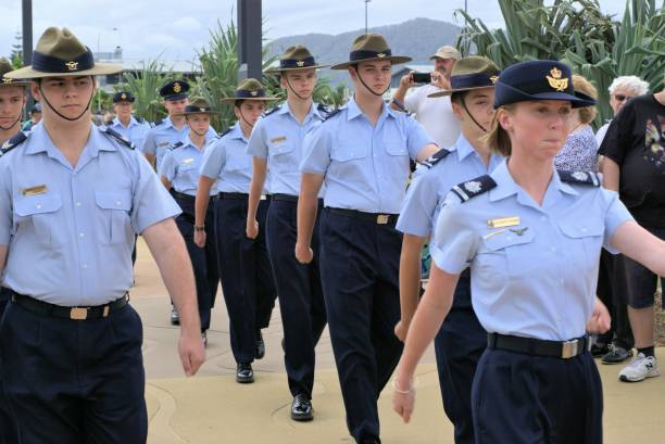 Squadron Australian Air Force Cadets stock photo