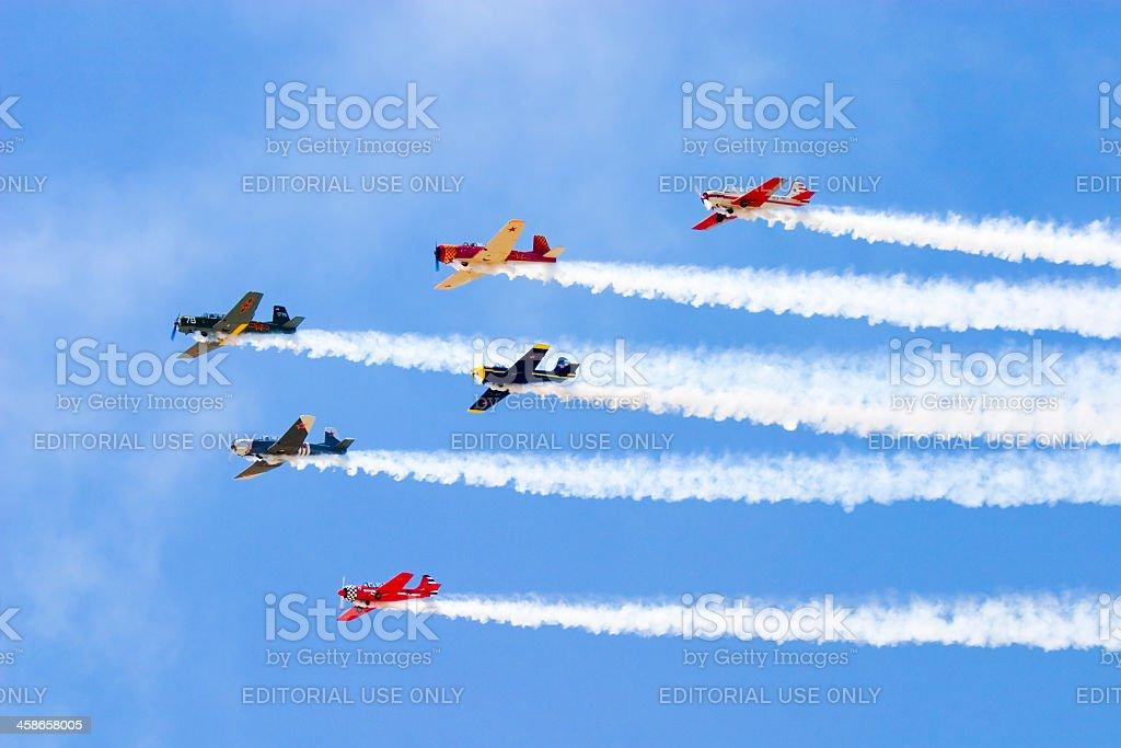 Squadron of Planes royalty-free stock photo