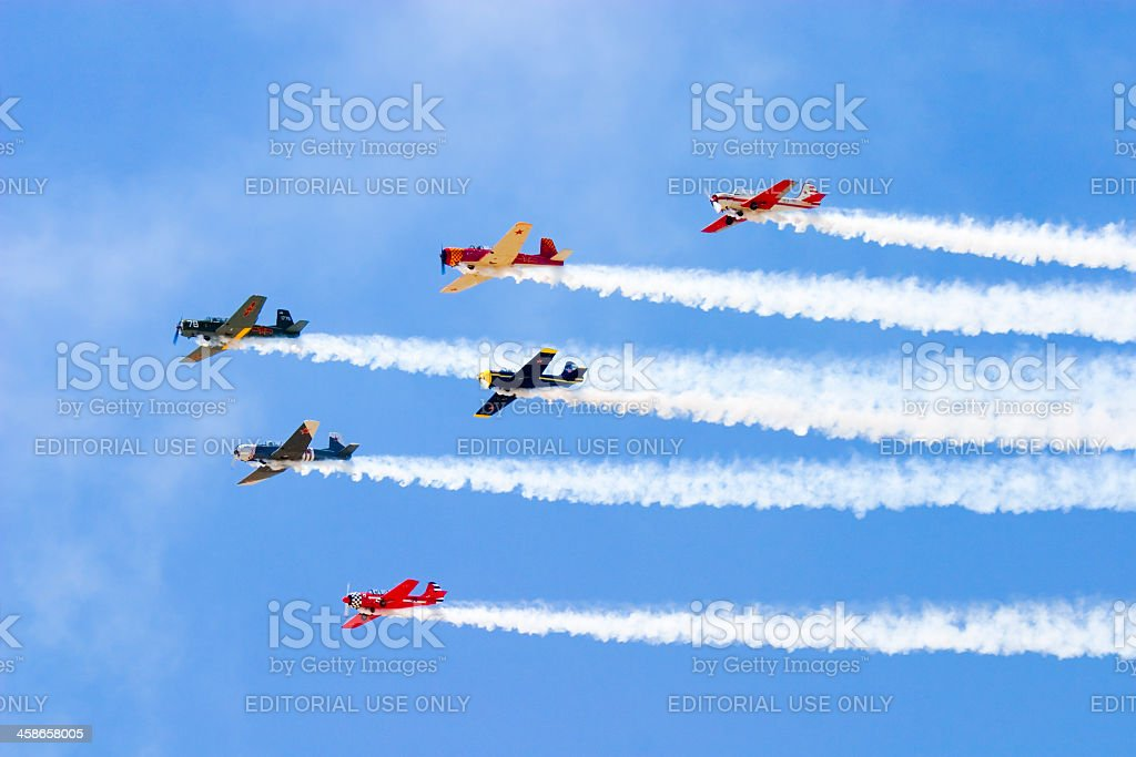 Squadron of Planes stock photo
