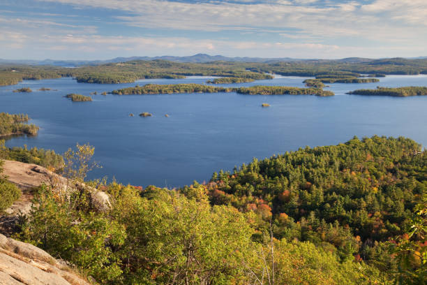 Squam Lake, New Hampshire stock photo