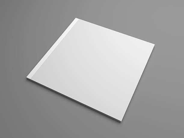 Square 3D illustration brochure cover mock-up stock photo