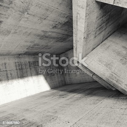 516688156istockphoto Square abstract architecture background, 3d 516687580
