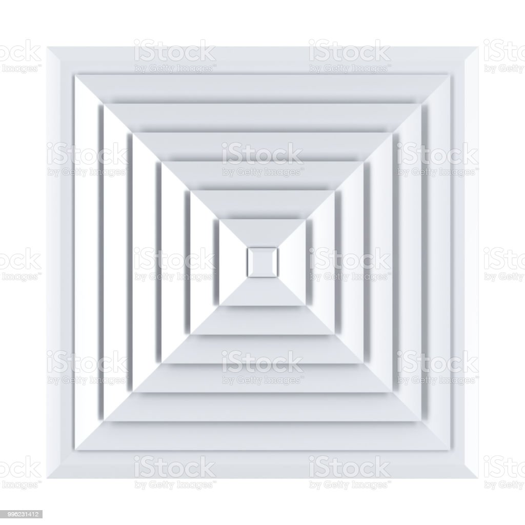 Square air vent cover stock photo