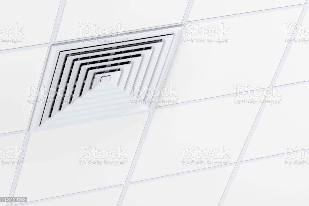 Square air vent stock photo