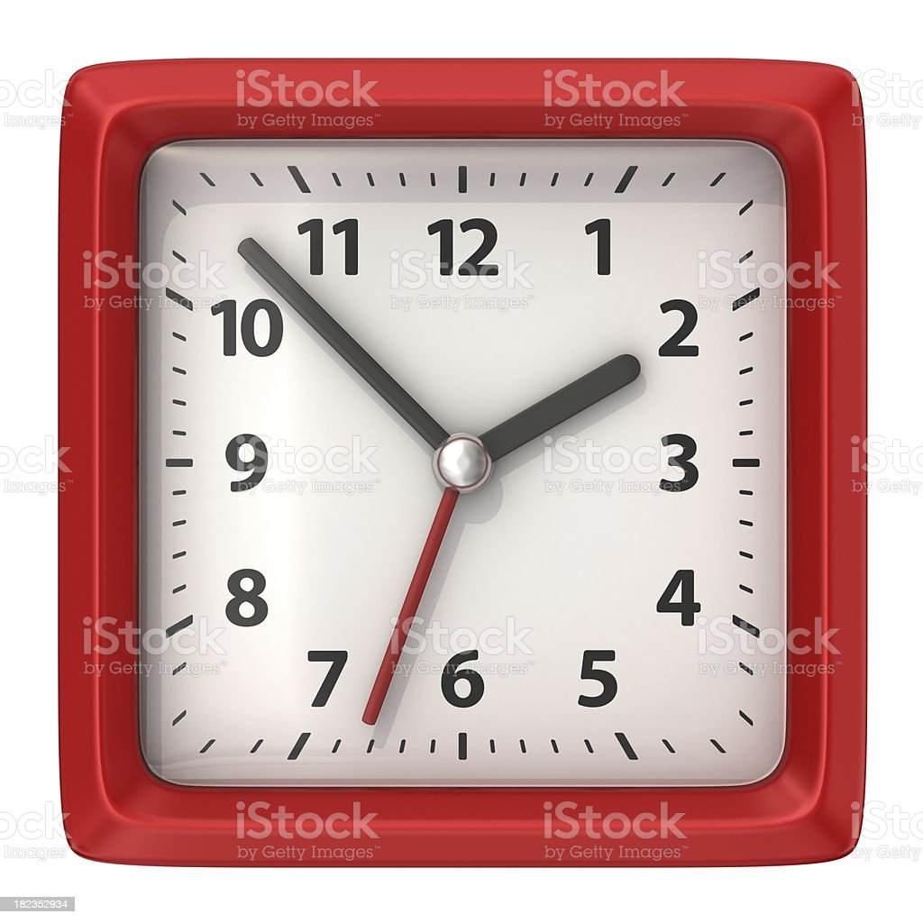 square alarm clock stock photo
