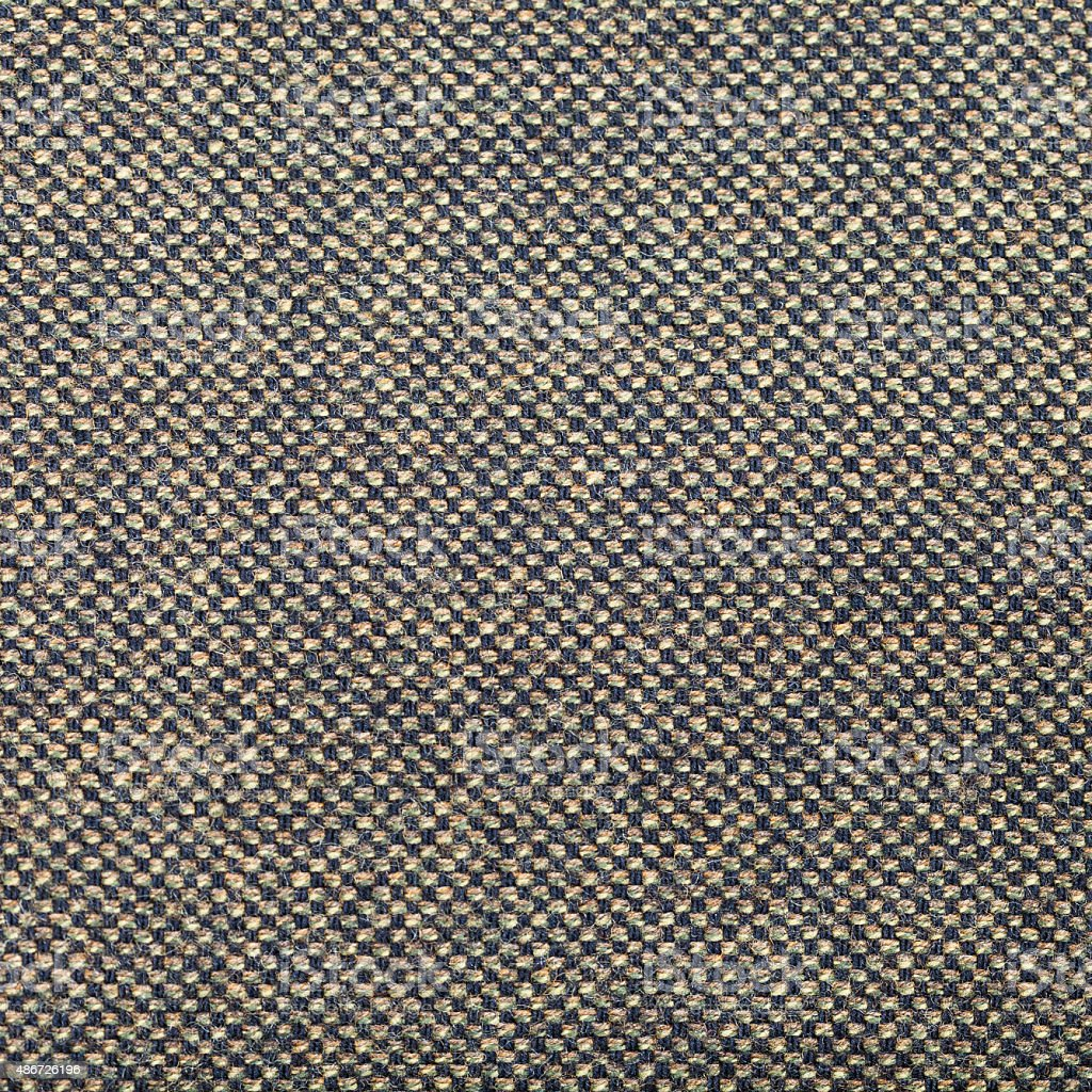 square background from green brown tweed fabric stock photo