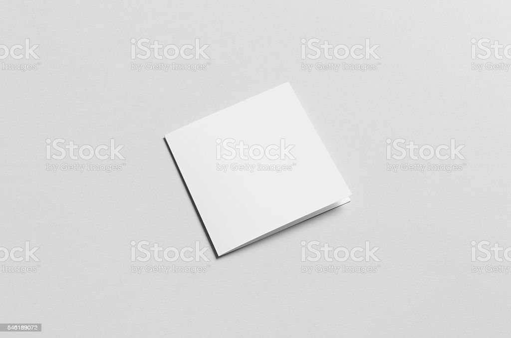 Square Bi-Fold / Half-Fold Brochure Mock-Up - Front stock photo