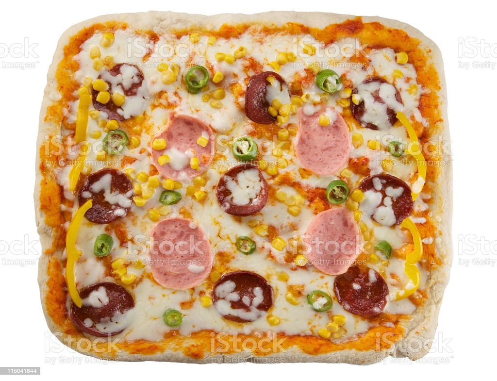 square big pizza royalty-free stock photo