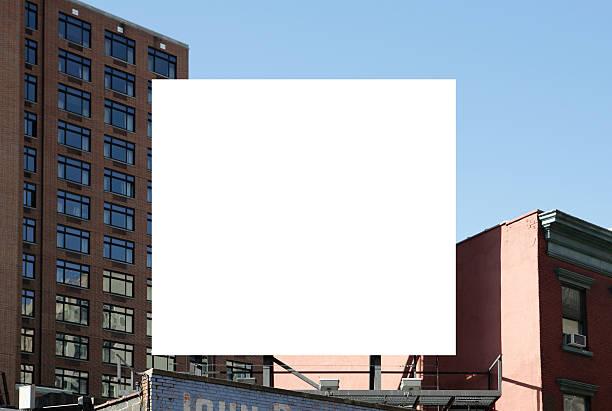 Square billboard stock photo