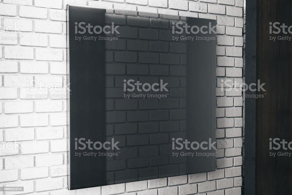 Fyrkantig svart glasskiva royaltyfri bildbanksbilder
