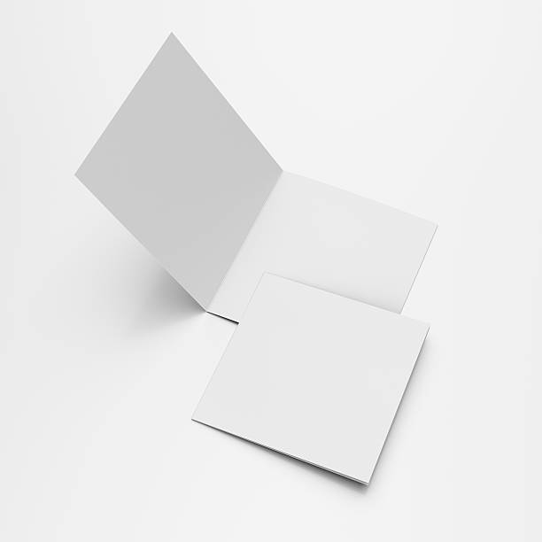 Square blank leaflets or brochures stock photo