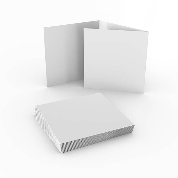 carré vide les dépliants ou brochures - forme bidimensionnelle photos et images de collection