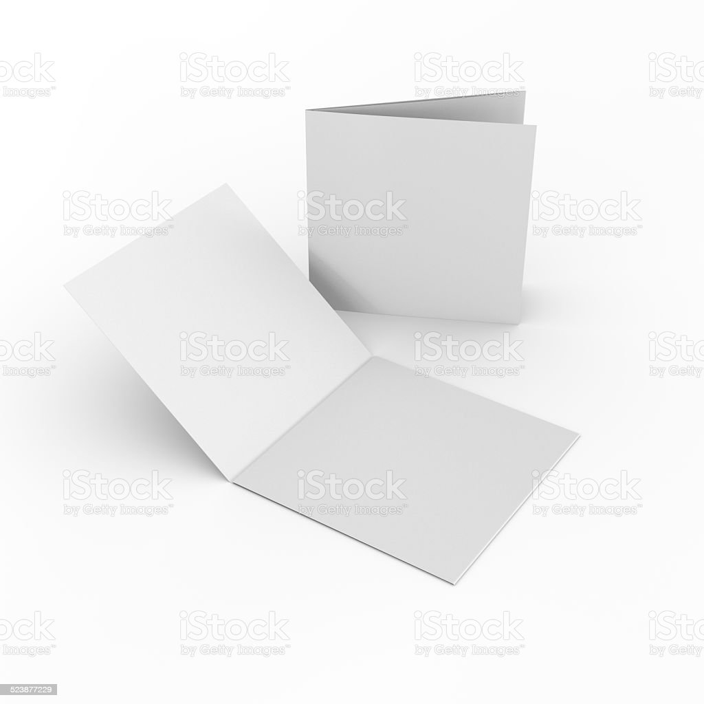 Cuadrado en blanco los folletos o folletos - foto de stock