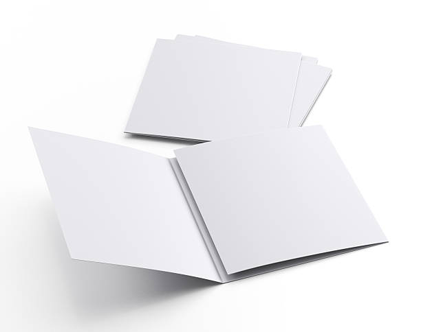 Square blank leaflets or fliers stock photo