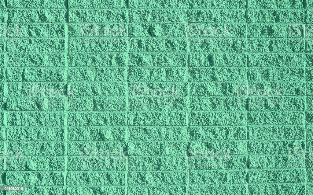 Square brick wall background stock photo