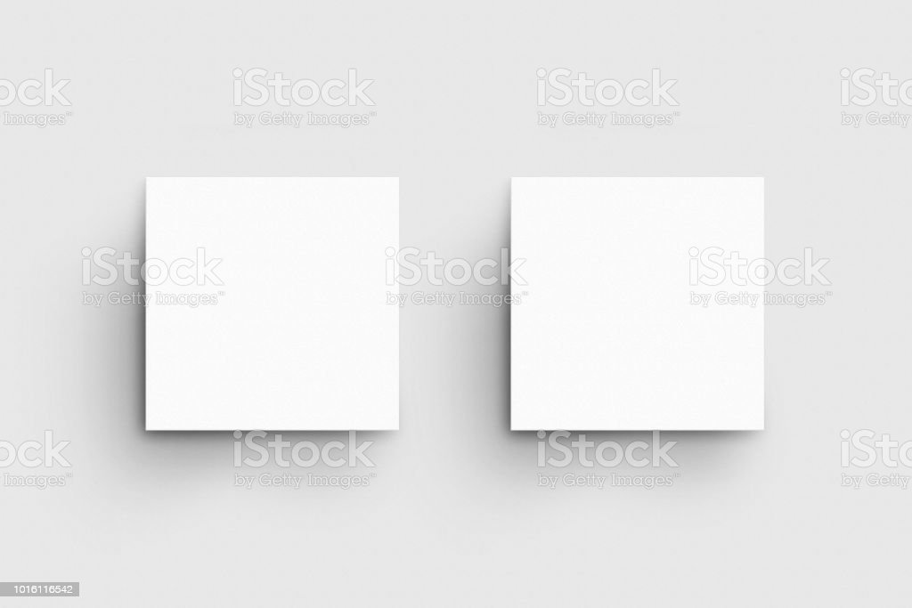 Square business card mockup template stock photo more pictures of square business card mock up template royalty free stock photo wajeb