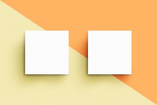 Quadratische Visitenkartenmockupvorlage Stockfoto Und Mehr Bilder Von Abstrakt