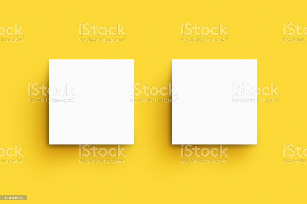Quadratische Visitenkartenmockupvorlage Stockfoto Und Mehr