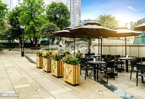 istock Square cafe in Chongqing, China 899185004