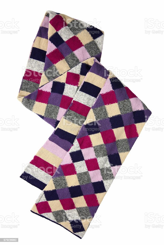Square color scarf royalty-free stock photo