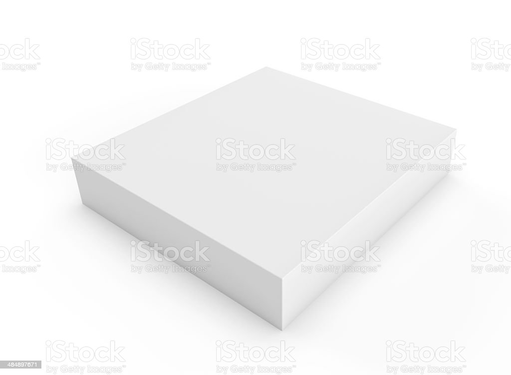 square cube white packaging blank box stock photo