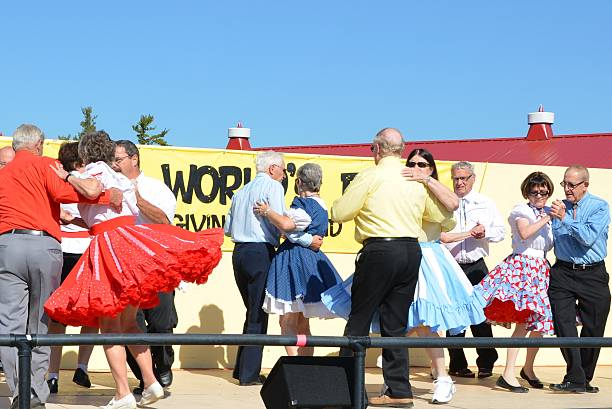 square dance - petticoat stock pictures, royalty-free photos & images