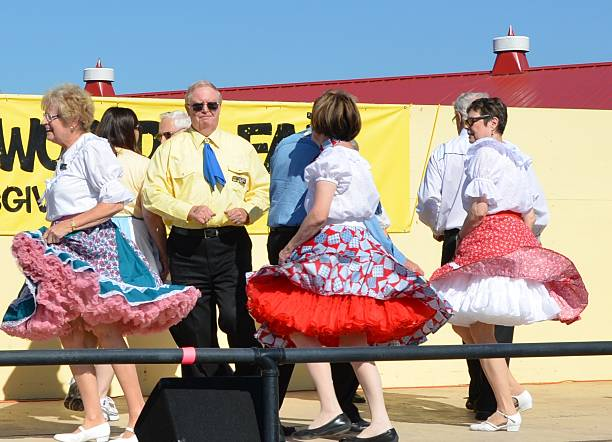 square dancers - petticoat stock pictures, royalty-free photos & images