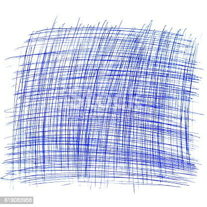istock square drawn with a ballpoint pen on a white sheet 619083958