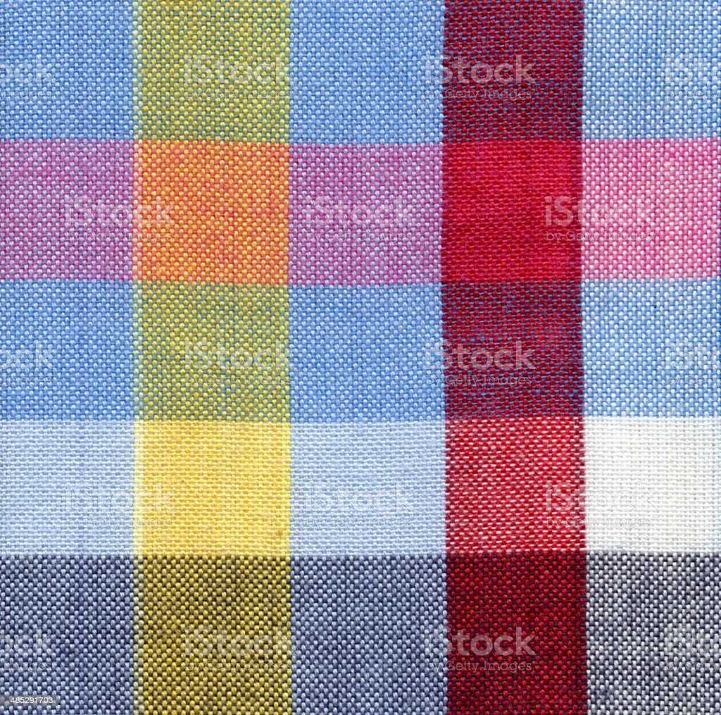 Square fabric pattern background stock photo
