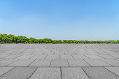 Square floor and sky
