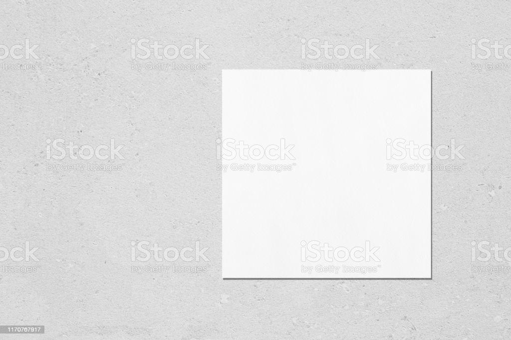 Quadratische Flyer Oder Visitenkarte Mockup Auf Hellgrauem