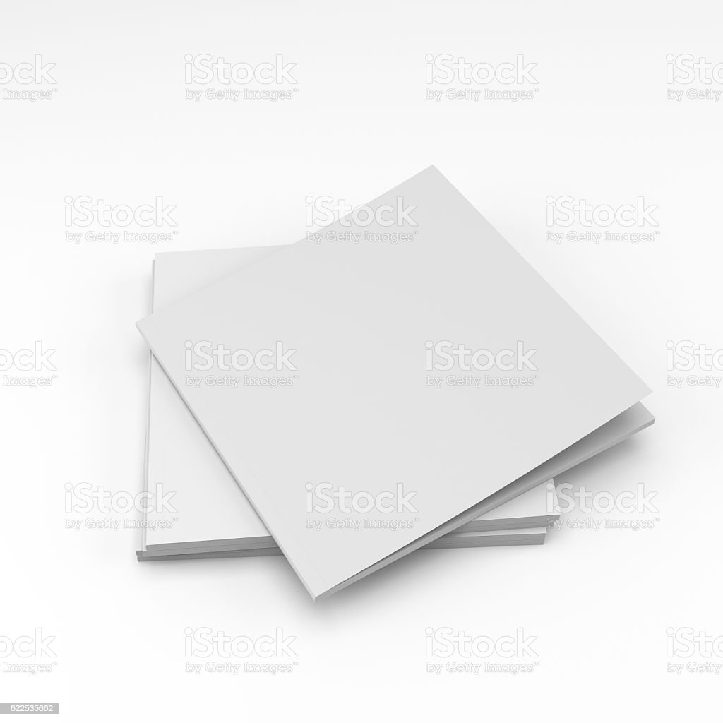 square format catalog or magazine stock photo