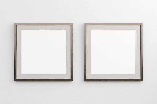 帶空白海報的方形框架 - 方形 個照片及圖片檔
