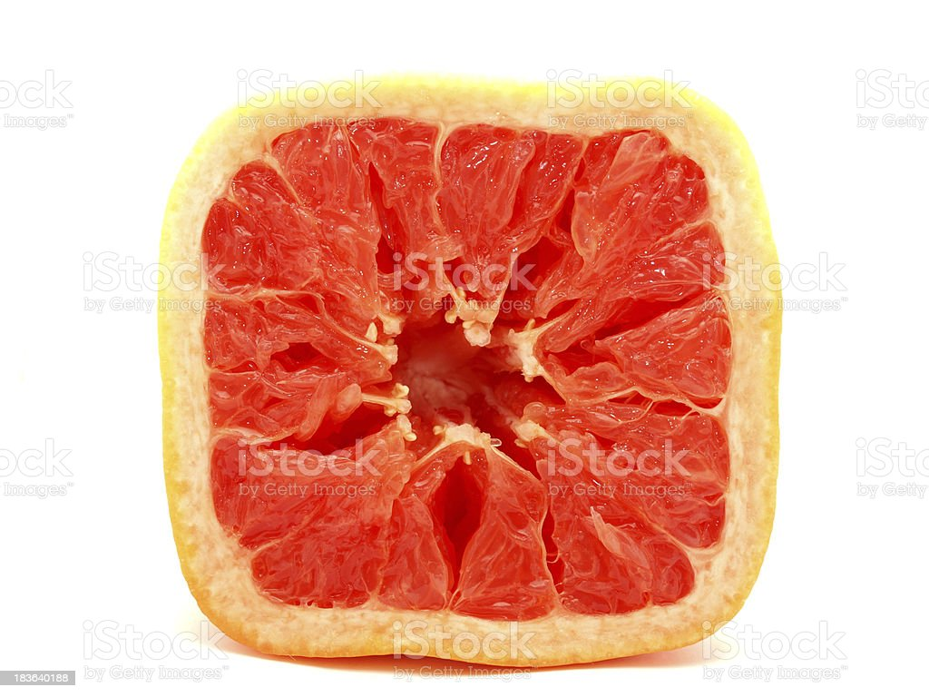 Square grapefruit royalty-free stock photo
