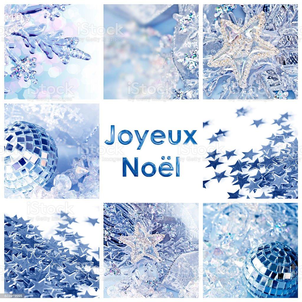 Auguri Di Buon Natale Francese.Quadrato Di Auguri Joyeux Noel Ovvero Buon Natale In